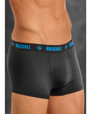 "Rock and Roll Cowboy Men's Black and Blue 3"" Boxer Briefs , Black, hi-res"