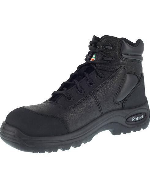 "Reebok Women's Trainex 6"" Lace-Up Work Boots - Composite Toe, Black, hi-res"