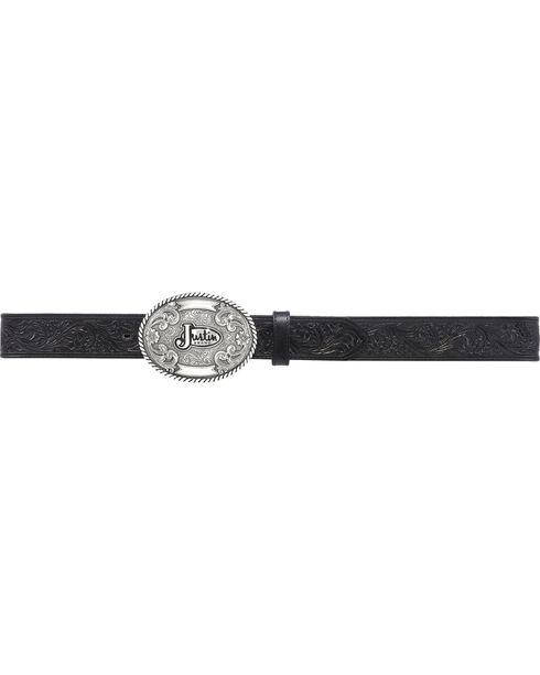Justin Men's Floral Leather Trophy Belt, No Color, hi-res
