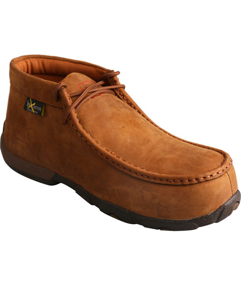 Twisted X Women's Soild Tall Driving Mocs, Brown, hi-res