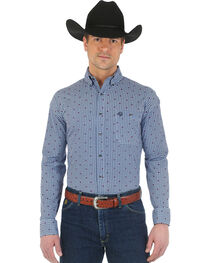 Wrangler Men's George Strait Long Sleeve Western Shirt, , hi-res