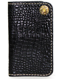 SouthLife Supply Men's Jackson Black Croc Embossed Multi Pocket Wallet, , hi-res