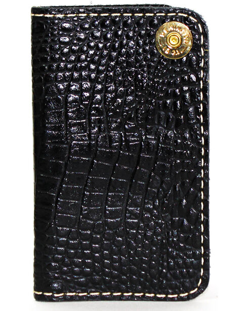 SouthLife Supply Men's Jackson Black Croc Embossed Multi Pocket Wallet, Black, hi-res
