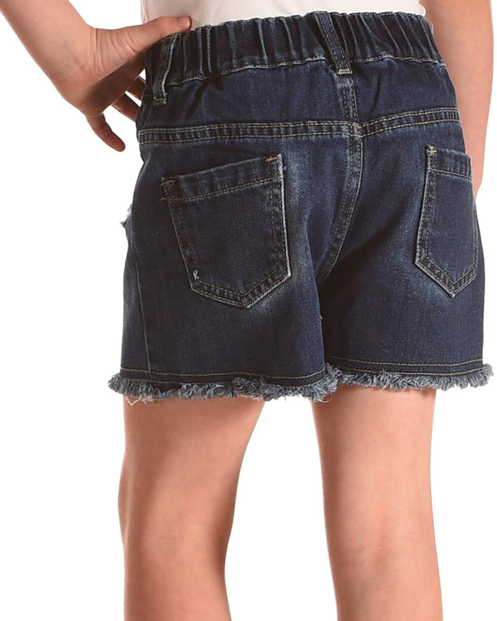 Idol Mind Girls' Embroidered Denim Shorts, Indigo, hi-res