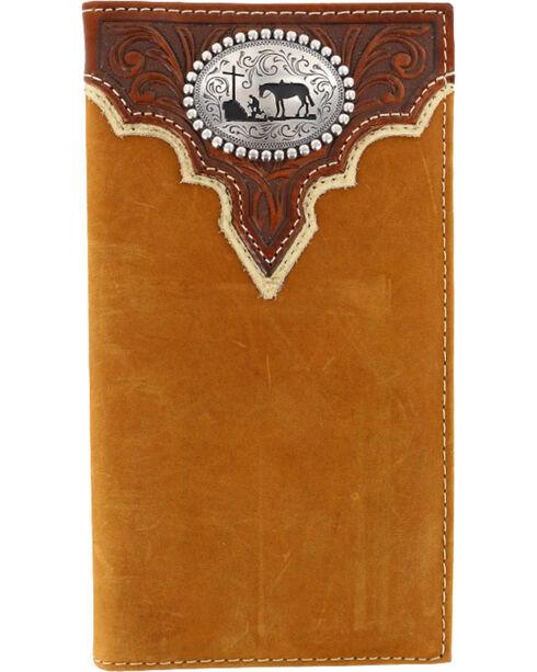 Cody James® Men's Leather Rodeo Wallet, Brown, hi-res