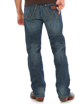 Wrangler Men's Indigo Retro Stretch Denim Slim Fit Jeans - Boot Cut , Indigo, hi-res