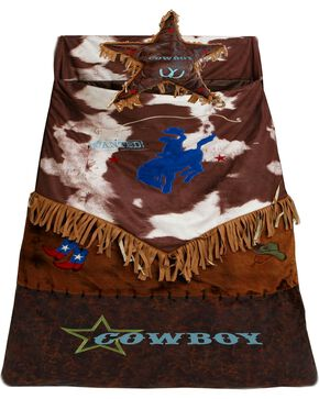 Kids' Western Star Bucking Bronco Sleeping Bag, Brown, hi-res
