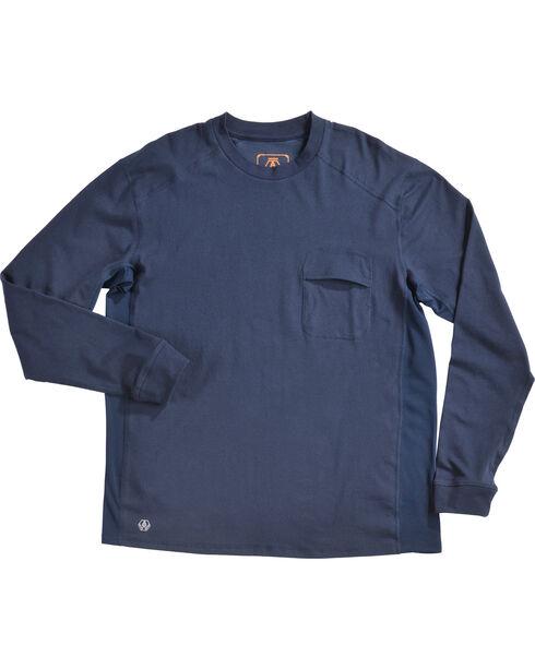 American Worker Men's Execute Performance Crew Long Sleeve T-Shirt, Navy, hi-res