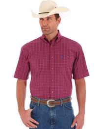 Wrangler Men' s Red George Strait Short Sleeve Shirt, , hi-res