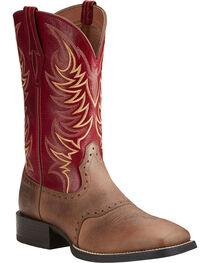 Ariat Men's Sport Sidewinder Performance Cowboy Boots - Square Toe, , hi-res