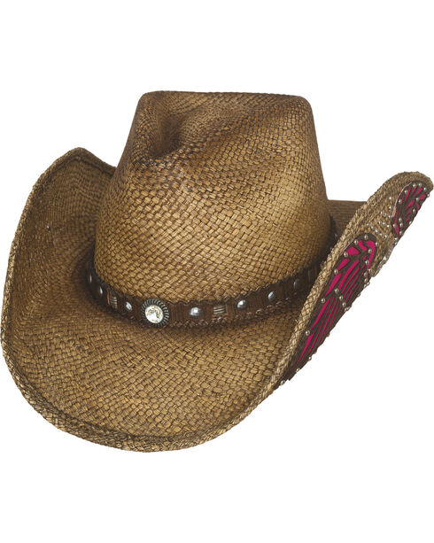 Bullhide Women's Western Inspiration Staw Hat, Natural, hi-res
