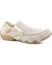 Roper Men's Tan Roper Dougie Casual Driving Moc Shoes , , hi-res