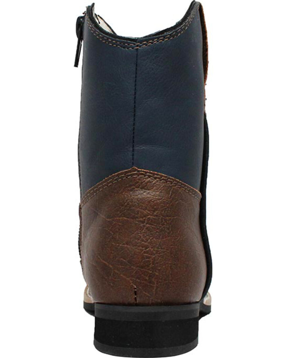 "Ad Tec Toddler's 6"" Side Zip Western Boots, Navy, hi-res"