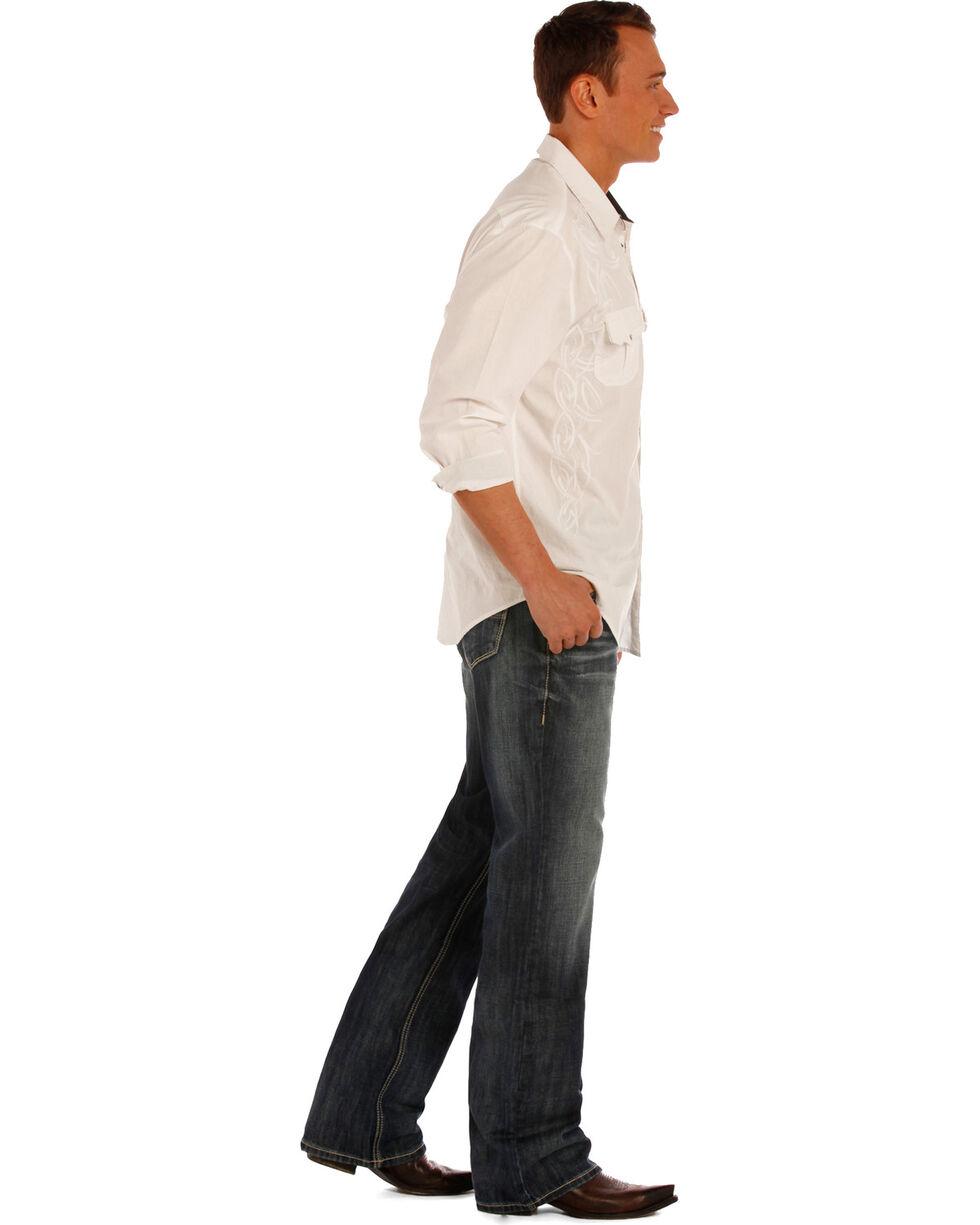 Rock & Roll Cowboy Men's Double Barrel Relaxed Fit Boot Cut Jeans, Indigo, hi-res