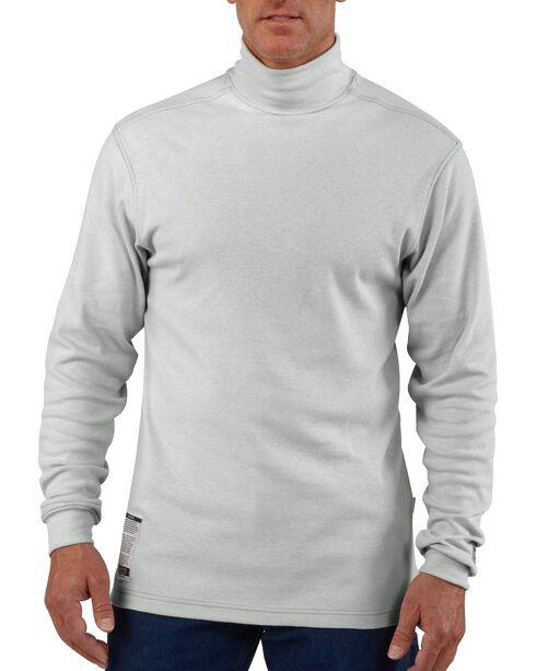 Carhartt Flame Resistant Force Grey Mock Turtleneck - Big & Tall, Grey, hi-res