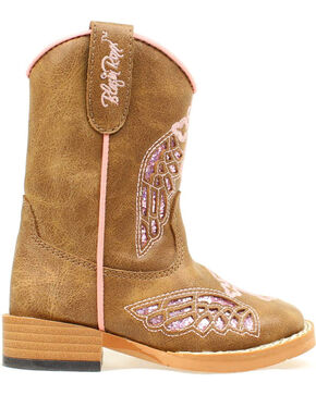 Blazzin Rocks Girls' Gracie Wing Cross Zip Boot, Brown, hi-res