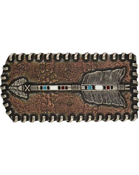 Montana Silversmiths Copper Arrow  Attitude Belt Buckle, Antique Silver, hi-res