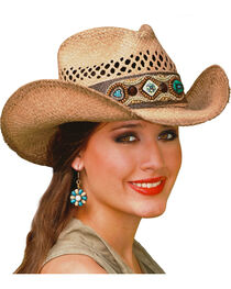 Bullhide Women's So Far Away Straw Hat, , hi-res