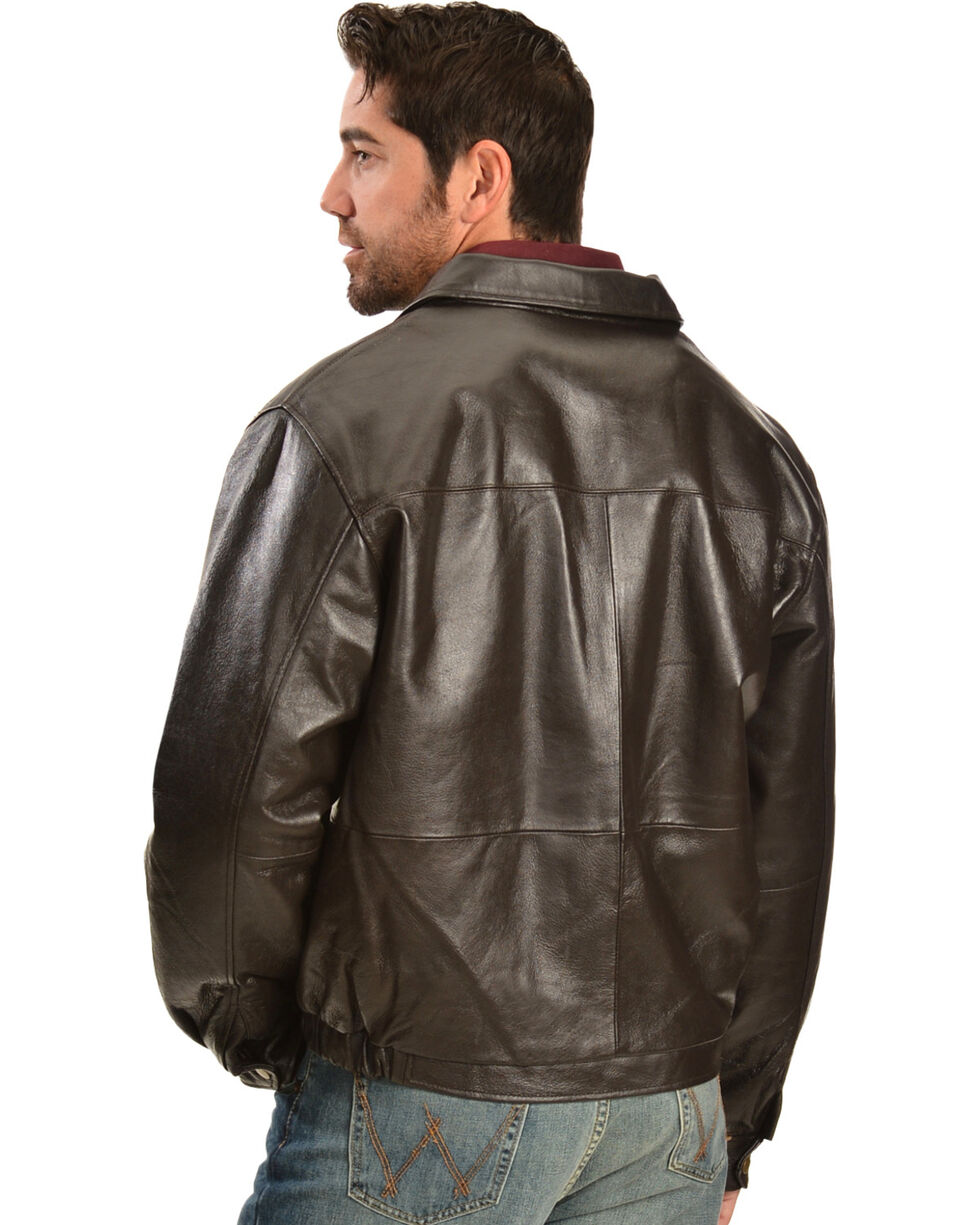 Vintage Leather Men's Brown Leather Bomber Jacket, , hi-res
