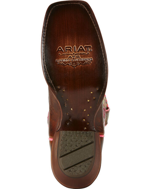 Ariat Women's Derby Western Boots, Dark Brown, hi-res