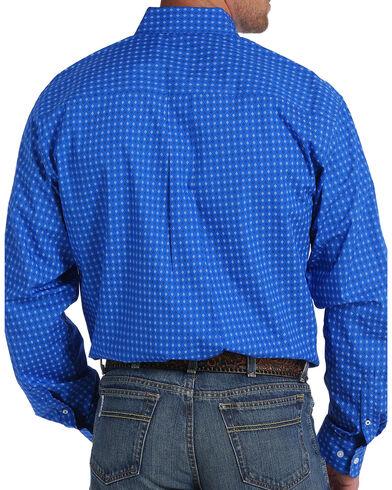 Cinch Men's Royal Blue Plain Weave Print Long Sleeve Button Down ...