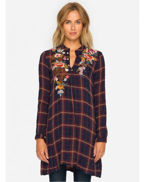 Johnny Was Women's Esmeralda Plaid Trapeze Tunic, Multi, hi-res