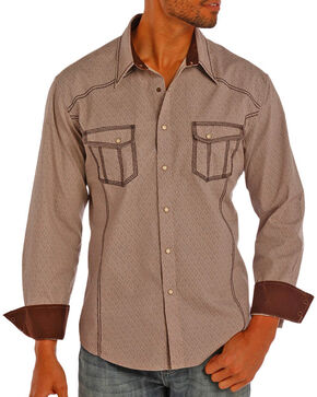 Rock & Roll Cowboy Men's Western Long Sleeve Shirt, Grey, hi-res