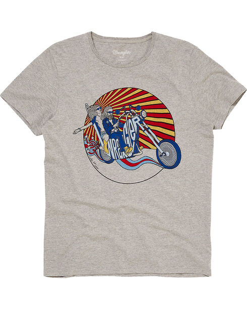 Wrangler Men's 70th Anniversary Luke Screen Print Tee , Grey, hi-res