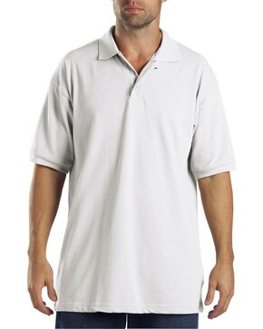 Dickies Pique Polo Work Shirt, White, hi-res