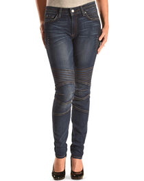 MM Vintage Women's Biker Skinny Stretch Jeans , , hi-res