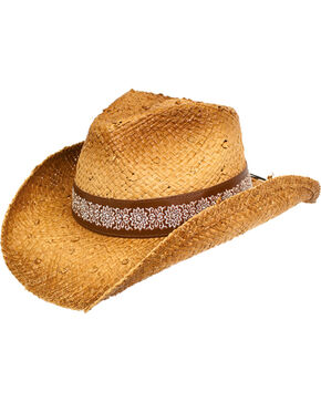 Peter Grimm Women's Taupe Alegra Cowgirl Hat , Taupe, hi-res