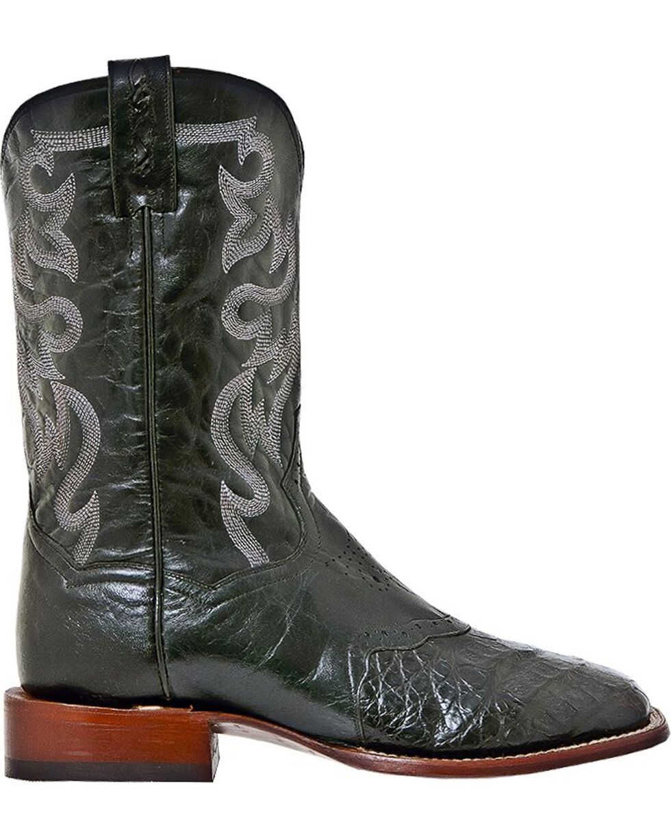 Dan Post Men's Aurora Caiman Exotic Stockman Boots, Black, hi-res