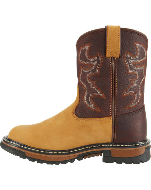 Rocky Kid's Branson Roper Western Boots, Brown, hi-res