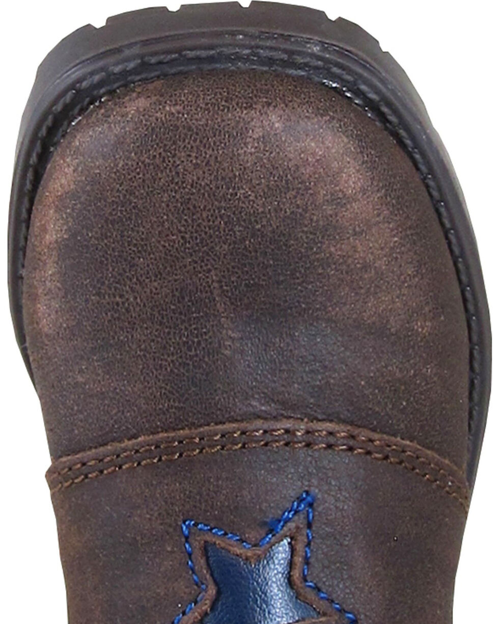 Smoky Mountain Toddler Boys' Autry Star Inlay Cowboy Boots - Square Toe, Brown, hi-res