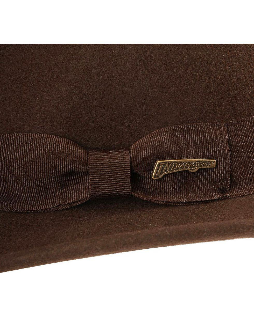 Indiana Jones Crushable Wool Fedora Hat, Chocolate, hi-res