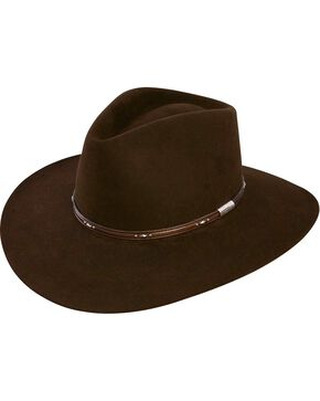 Stetson Pawnee 4X Fur Felt Hat, Chocolate, hi-res