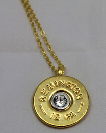 SouthLife Supply Women's Oakley Shotshell Necklace in Traditional Gold with Crystal, , hi-res