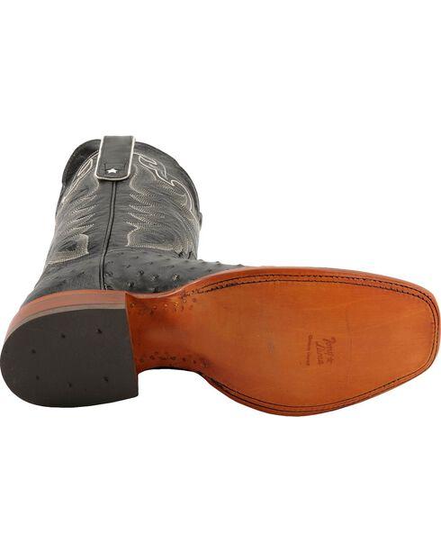 """Tony Lama Men's San Saba Full Quill Ostrich 11"""" Western Boots, Black, hi-res"""