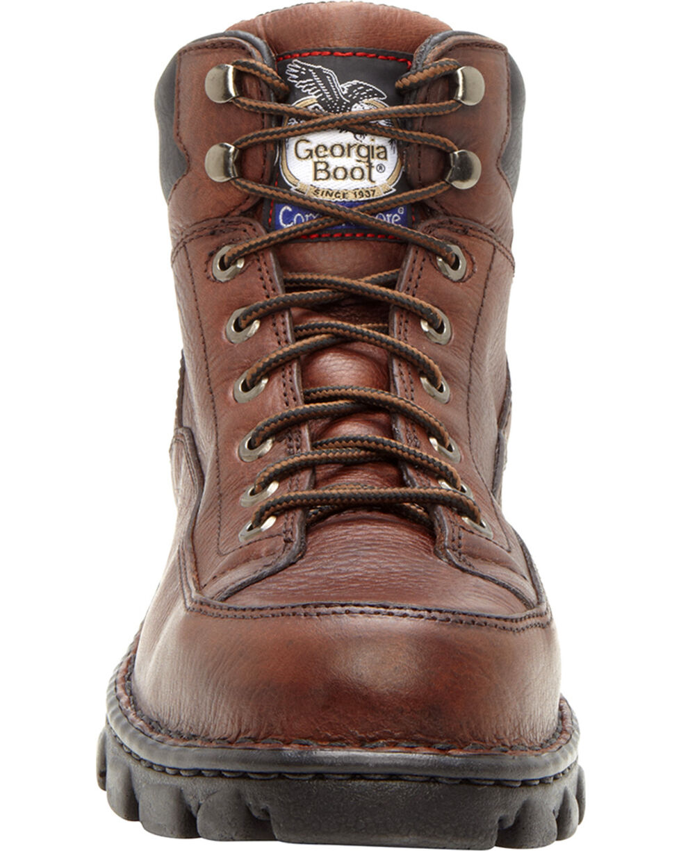 "Georgia Men's Wide Load Safety Toe Heritage 6"" Work Boots, Dark Brown, hi-res"