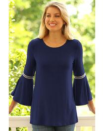 Wrangler Women's Flutter Sleeve Top, , hi-res