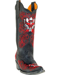 Gameday Texas Tech University Cowgirl Boots - Pointed Toe, Black, hi-res