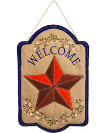 Evergreen Country Star Burlap Door Hanger , , hi-res