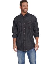 Cowboy Up Men's Black Special Wash Shirt , , hi-res