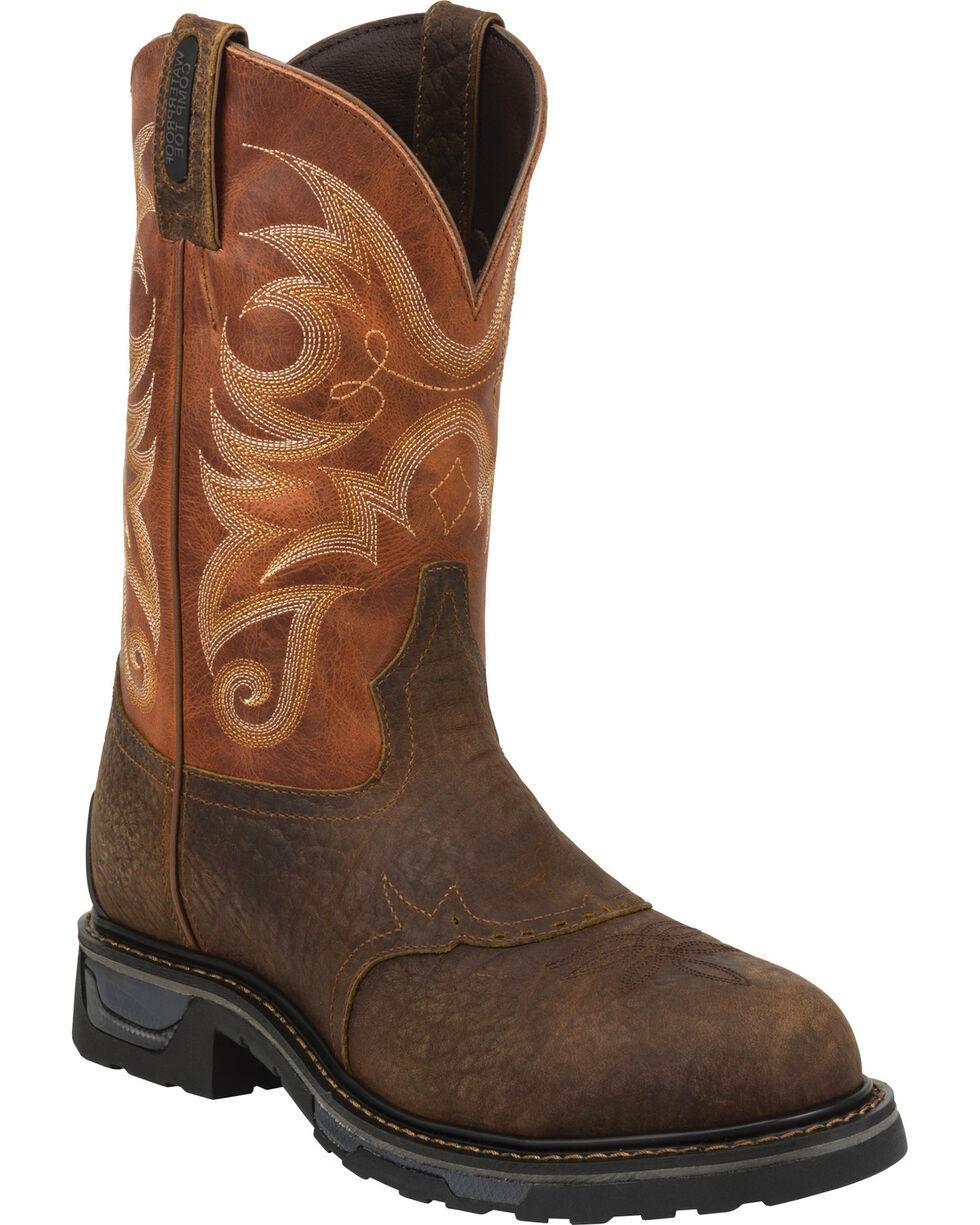 Tony Lama Sierra Men's Waterproof TLX Performance Western Work Boots, Brown, hi-res
