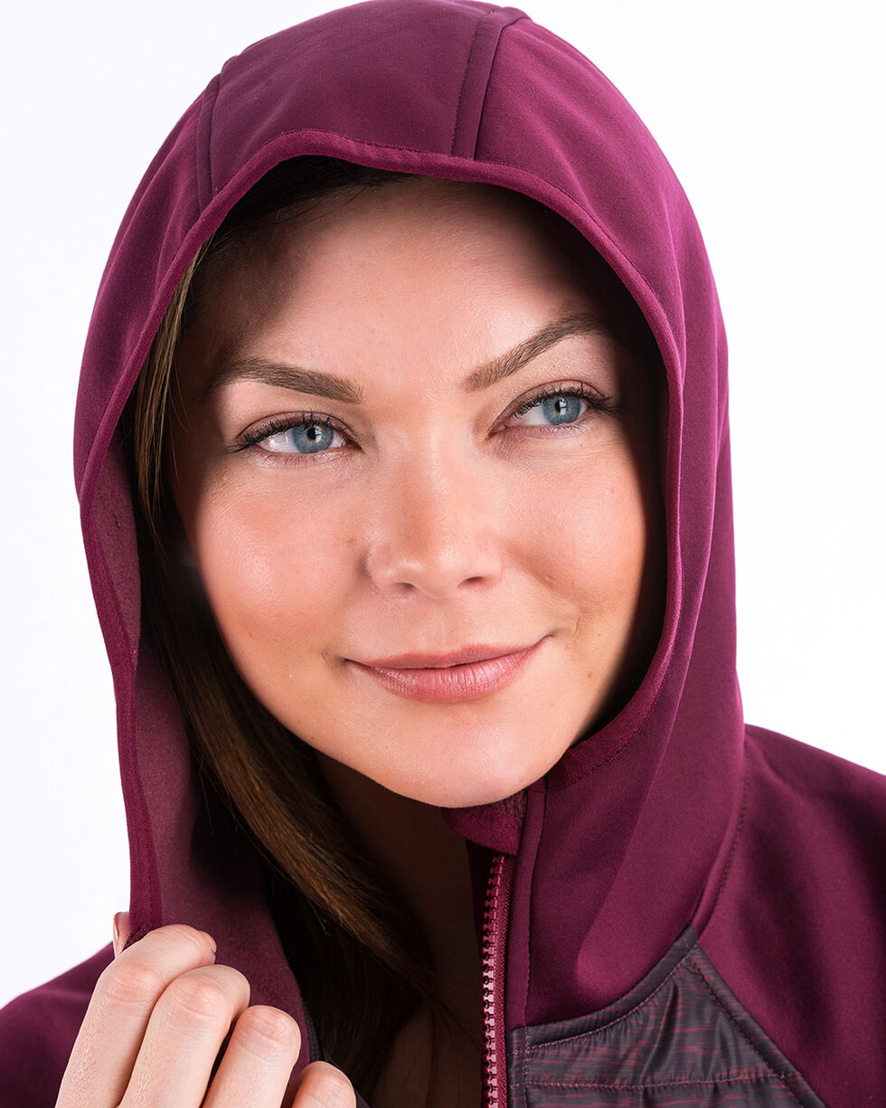 Cinch Women's Purple Tech Hooded Jacket , , hi-res