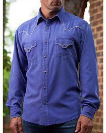 Ryan Michael Men's Blue Cobalt Western Shirt, , hi-res