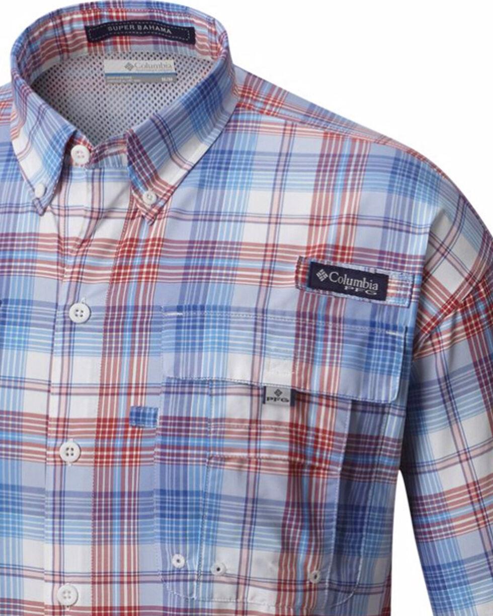 Columbia Men's Blue Super Bahama Long Sleeve Plaid Shirt , Blue, hi-res