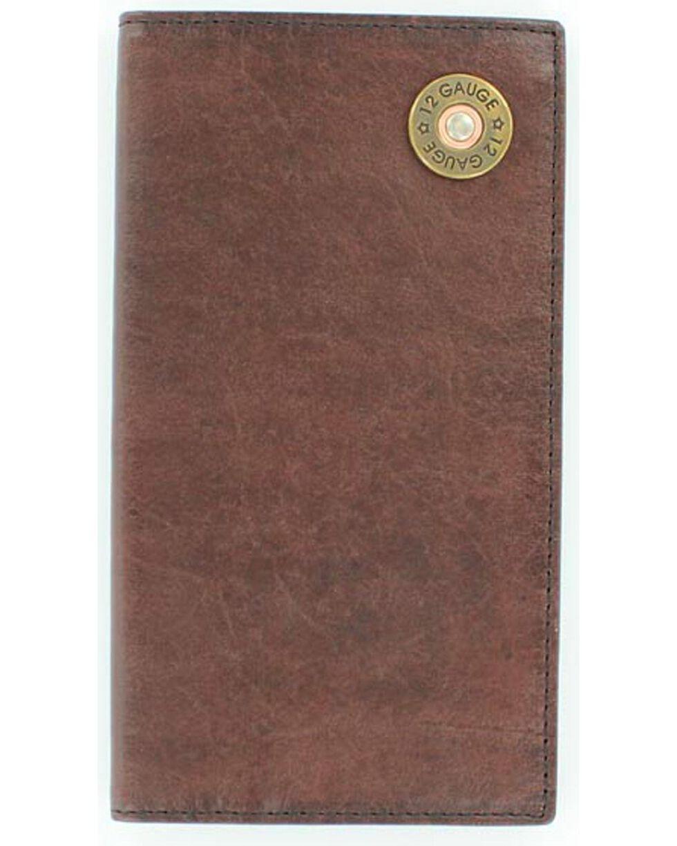 Nocona Men's 12 Gauge Checkbook Wallet, Brown, hi-res