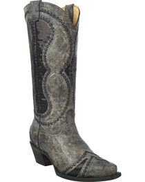 Corral Women's Diamond Inlay Western Boots, , hi-res