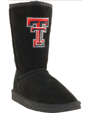 Gameday Boots Women's Texas Tech University Lambskin Boots, Black, hi-res